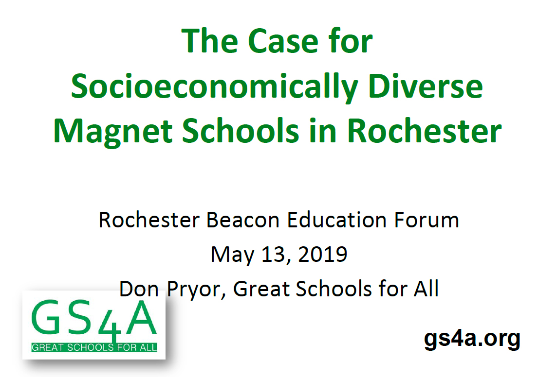 GS4A Rochester Beacon Education Forum Presentation